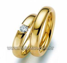 Par de Alianças Irlanda ♥ Alianças Casamento e Noivado em Ouro 18 K Reisman