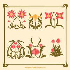 New Art Nouveau Ornament Enamels Ideas Azulejos Art Nouveau, Art Nouveau Tiles, Art Nouveau Design, Flores Art Nouveau, Art Nouveau Flowers, Art Deco Tattoo, Nouveau Tattoo, Art Nouveau Illustration, Watercolor Illustration