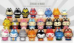 Zhuai Mao, collectible figurines with a DIY blank version.