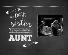 10x8 sister promoted to aunt, pregnancy announcement, telling sister pregnant, new aunt - digital file