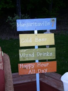 Hand Painted Margaritaville Yard Signs by Pinstripes0108 on Etsy