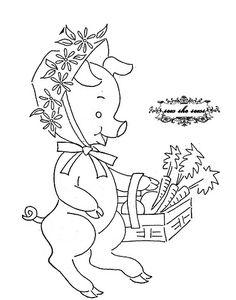 vintage market piggy embroidery pattern   Flickr - Photo Sharing!