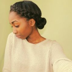 Nice and simple natural hair style for the winter