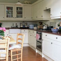 White kitchen decor    Thinking of changing around your kitchen??  Here are some inspirational pics of white kitchens.       At Home in...