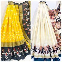 Sarees IKKAT PRINT KHADI BLENDED SAREE PACK OF 2 Saree Fabric: Khadi Silk Blouse: Running Blouse Blouse Fabric: Khadi Silk Pattern: Printed Blouse Pattern: Printed Multipack: Pack of 2 Sizes:  Free Size Country of Origin: India Sizes Available: Free Size   Catalog Rating: ★4.3 (277)  Catalog Name: Kashvi Refined Sarees CatalogID_2332139 C74-SC1004 Code: 226-12184591-0261