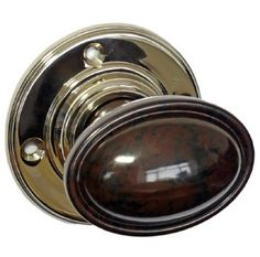 BROLITE Real Bakelite Door Knobs Black/Nickel Roses: All our BROLITE real Bakelite pieces are based on original designs from early to c Door Furniture, Knobs And Handles, Back Plate, Wood Screws, Door Knobs, Polished Nickel, Solid Brass, Antique Brass