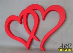 Pracownia Dekoracji ARQ - DECOR - Duże Czerwone Serduszka - Dekoracje Ślubne - Weselne Diy Painting, Painting On Wood, Wooden Signs, Decoration, Valentines, Painted Wood, Lettering, Art, Templates