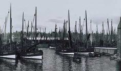 herring and white fishing fleet peterhead Old Boats, Wooden Ship, Fishing Boats, Britain, New York Skyline, Scotland, Sailing, Sea, Aberdeen