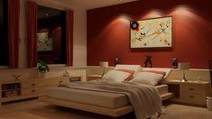 crimson red bedroom   15 Invigorating Red Bedroom Designs   Home Design Lover