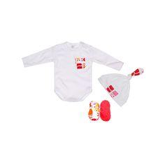 Komplecik niemowlęcy SOWY RÓŻOWE 3 in 1 Baby Gift Set Pink Owls https://fiorino.eu/