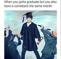 DO THIS FOR JIN HE MISSED HIS COLLEGE GRADUATION FOR AN AWARDS CEREMONY