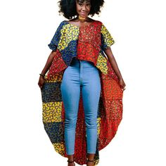 2017 summer autumn african clothes for women batik wax print cotton fashion Irregular tops ankara clothing T shirt upper garment