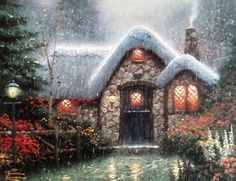 Thomas Kinkade - The Woodsmans Thatch