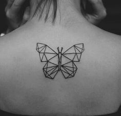 Love this geometric design. Butterfly tattoo