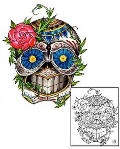 Day of the Dead Tattoos DFF-01048 Created by Damien Friesz