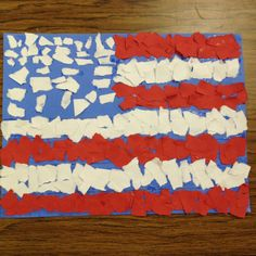 4th of July art project-fine motor skills