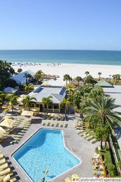 Views of the beautiful Gulf of Mexico - Sirata Beach Resort   #Sirata #StPete #Beach #Florida #sun #blue #sky #clouds #fun #family #vacation #trip #relax #lunch #patio #views #hangout #ideas