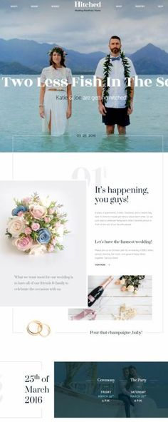 Hitched ThemeFuse : Wedding Event / Marriage WordPress Theme http://www.awordpressthemesreview.com/hitched-themefuse/ #WordPress