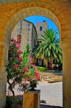 """Arches at the monastery, Abu Gosh / Israel (by Yuliya S.)."""