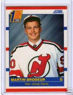 Martin Brodeur Rookie Card NEW JERESY NJ DEVILS  NHL 1990 Score Rookie Hockey Card!!!
