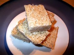 Maple Coconut Bars. These are really easy to make and delicious, and not as energy-intense as other raw bars I've tried :)