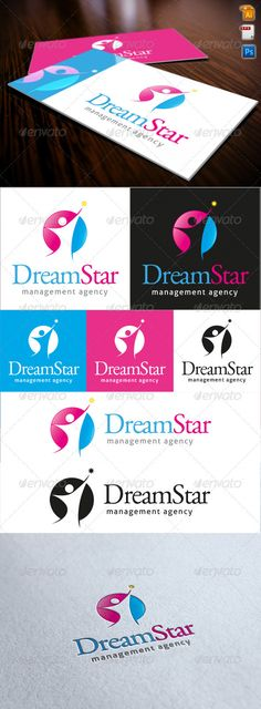Dream Star Logo #GraphicRiver Dream Star Logo is an image of people try to reach a star in a circle siluette.
