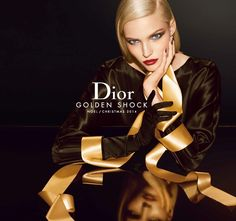 The Dior Golden Shock Holiday 2014 Makeup Collection is launching soon! This gorgeous Holiday 2014 Collection from Dior uses the Holiday's signature color Bronze, Glamour, Christian Dior, Holiday 2014, Christmas 2014, Christmas Campaign, Xmas, Christmas Colors, Dior Beauty