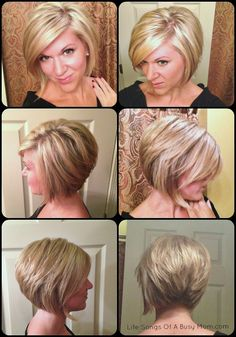 Life Songs Of A Busy Mom: Fall 2014 Hair (Inverted or Stacked Bob)