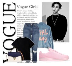 """Vouge Girls // Jiyong"" by xxxdragon ❤ liked on Polyvore featuring High Heels Suicide, adidas Originals, Aspinal of London, bigbang, kpop, gdragon and jiyong"