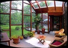 住みたくなる大きな窓のお洒落な部屋とサンルーム参考インテリア