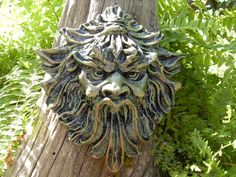 Greenman homme vert gargouille feuille homme par LaurelsFairyDoors