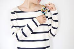 { DIY: une broche en perles de laine }