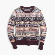 Sequin Fair Isle sweater : Patterned | J.Crew                                                                                                                                                      More
