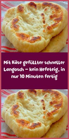 Mit Käse gefüllter schneller Langosch – kein Hefeteig in nur 10 Minuten fertig Ingredients 1 cup of natural yogurt tsp salt tsp sugar tsp baking powder 2 cups of flour 2 cups of cheese to taste Oil for bread Desserts For A Crowd, Healthy Desserts, Easy Cake Recipes, Cookie Recipes, Bread Recipes, Snacks Pizza, Pizza Pizza, Law Carb, Desserts Sains