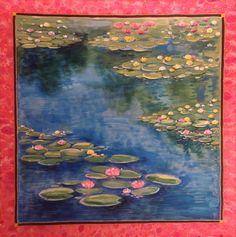 Foulard di seta Le Ninfee Monet di LaFarfallaCreazioni su Etsy