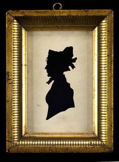Lady in Bonnet  n.d.  Chapman  hollow cut paper on fabric  sight 5 1/4 x 3 3/8 in. (13.3 x 8.5 cm)  Smithsonian American Art Museum
