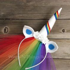 Check out our adult party favor selection for the very best in unique or custom, handmade pieces from our party favors shops. Unicorn Headpiece, Horn Headband, Unicorn Headband, Halloween Kostüm, Halloween Costumes For Kids, My Little Pony Costume, Unicorn Ears, Rainbow Unicorn, Birthday