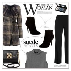 """""""Style Staple: Suede Boots"""" by vidrica ❤ liked on Polyvore featuring Samoon, La Fée Maraboutée, Charles by Charles David, Anja, Monki, Bebe, Isadora and suedeboots"""