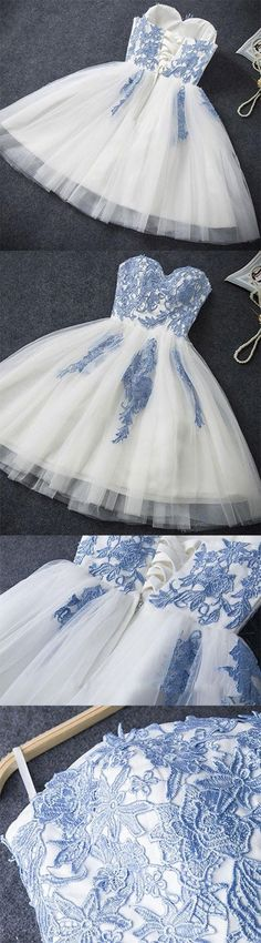 U0105,Simple Prom Dresses,Sexy A-line Strapless Short Prom Dress,Cheap Homecoming Dress - Thumbnail 1