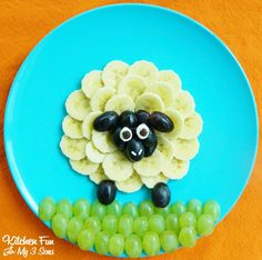 Sheep Fruit Snack - Kitchen Fun With My 3 Sons