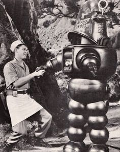Earl Holliman & Robby - Forbidden Planet, 1956.