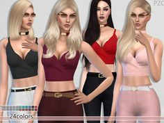 The Sims Resource: Elegant Cut Summer Top by Pinkzombiecupcake • Sims 4 Downloads