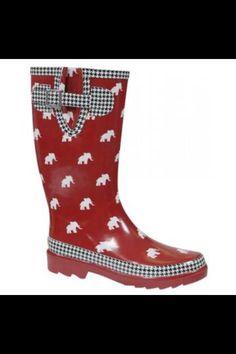 Alabama crimson tide rubber boots