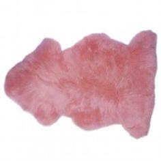 The Wool Company Pink Sheepskin Rug