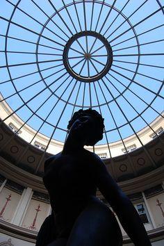 statue at Passage Colbert, paris