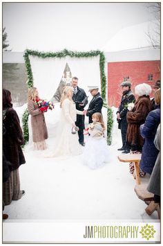 Winter Wedding Photographed in the Snow on Valentine's Day | Inn at Pleasant Lake | New Hampshire | New England |