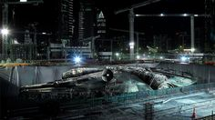 Full Scale Millennium Falcon Completed for STAR WARS: EPISODE VII! http://geektyrant.com/news/full-scale-millennium-falcon-completed-for-star-wars-episode-vii