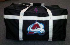 Custom bag for Toronto Avalanche @GitchSW Facebook - Gitch Sportswear Hockey Bags, Michael Kors Fulton, Large Shoulder Bags, Custom Bags, Coach Bags, Toronto, Sportswear, Facebook, Coach Handbags