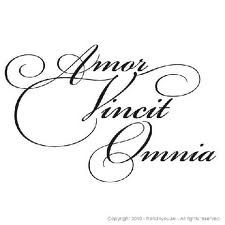 """Amor Vincit Omnia.""  Love Conquers All. I want this for a tattoo!! >_^ <3333"