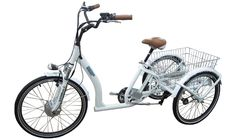 Electric Tricycle - 3 Wheel Electric Trike - Escape by REEF® Bike Motorized Tricycle, Electric Trike, Electric Cycles, Electric Vehicle, Adult Tricycle, Bicycles For Sale, Scooter Custom, Kids Bicycle, Scooter Girl